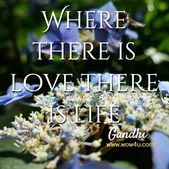 Where there is love there is life   Gandhi