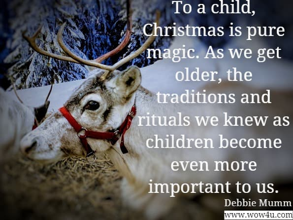 To a child, Christmas is pure magic. As we get older, the traditions and rituals we knew as children become even more important to us. Debbie Mumm, Debbie Mumm's Country Quilts for All Occasions
