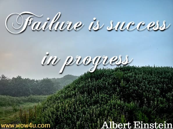 Failure is success in progress. Albert Einstein