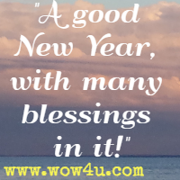 a good new year with many blessings in it