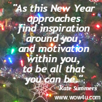 As this New Year approaches find  inspiration around you, and motivation within you,  to be all that you can be.