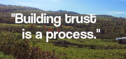 Building trust is a process.
