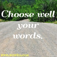 Choose well your words.