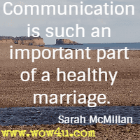 Communication is such an important part of a healthy marriage. Sarah McMillan