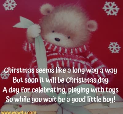 kids christmas poems about waiting