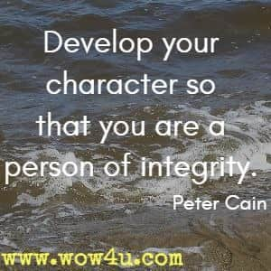 Man Of Integrity Quotes