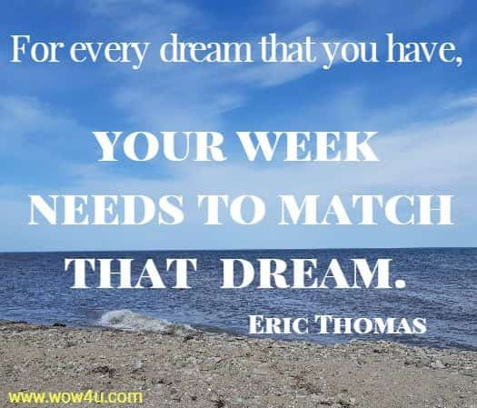 Inspiring quote  by Eric Thomas about taking action on your dreams