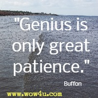 Genius is only great patience. Buffon