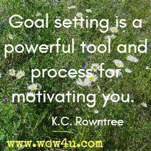Goal setting is a powerful tool and process for motivating you.  K.C. Rowntree