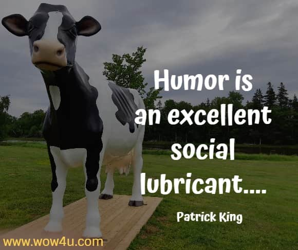 Humor is an excellent social lubricant....    Patrick King