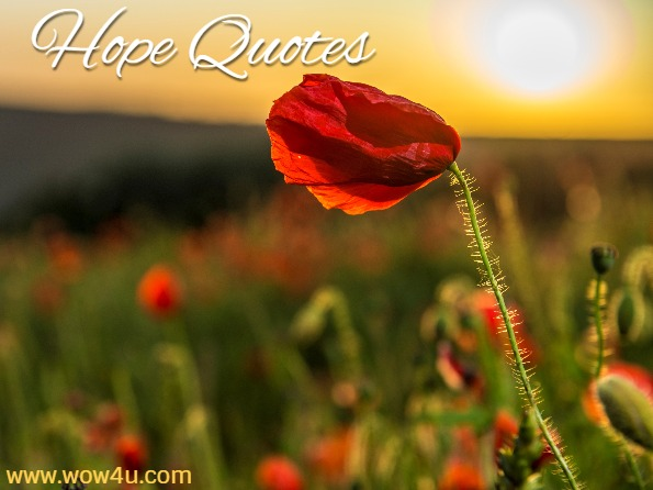 Hope quotes, poppyfield