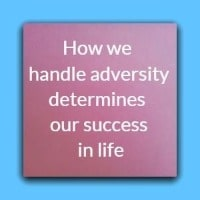 How we  handle adversity determines our success in life