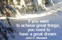 If you want to achieve great things, you need to have a great dream. Famous Quotes