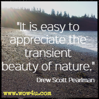 It is easy to appreciate the transient beauty of nature. Drew Scott Pearlman