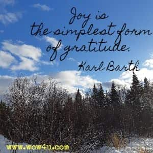 Joy is the simplest form of gratitude. Karl Barth