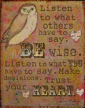 Be Wise - Wall Art To Inspire