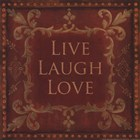 Wall Art - Live Laugh Love