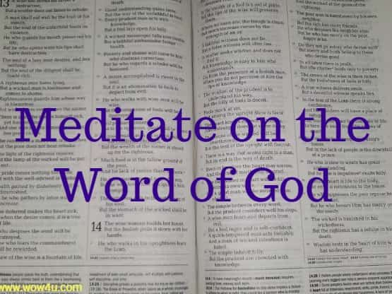 Meditate on the Word of God