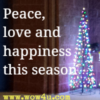 Peace, love and happiness this season