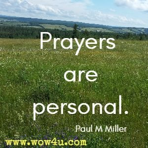 Prayers are personal.