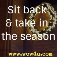 Sit back and take in the season
