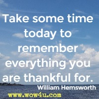 Take some time today to remember everything you are thankful for. William Hemsworth