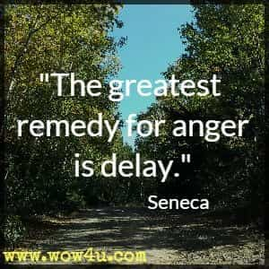 The greatest remedy for anger is delay. Seneca