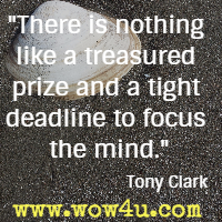 There is nothing like a treasured prize and a tight deadline to focus the mind. Tony Clark