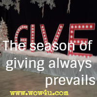 The season of giving always prevails
