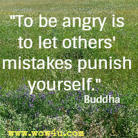 To be angry is to let others' mistakes punish yourself.  Buddha