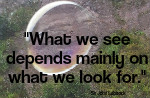 What we see depends mainly on what we look for. John Lubbock