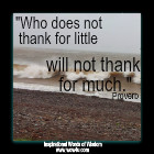 Who does not thank for