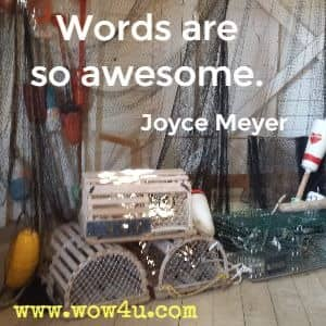 Words are so awesome. Joyce Meyer