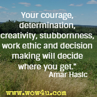 Your courage, determination, creativity, stubbornness, work ethic and decision making will decide where you get. Amar Hasic